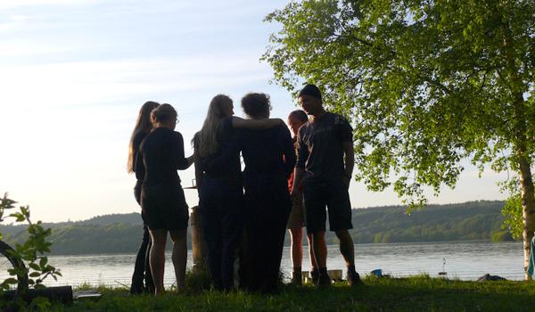 Friluftsliv i foråret på Ry Højskole
