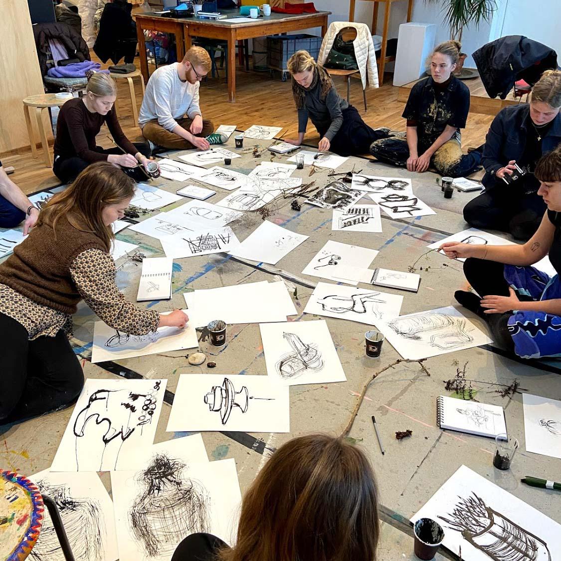 Tegning og kunst på Ry Højskole